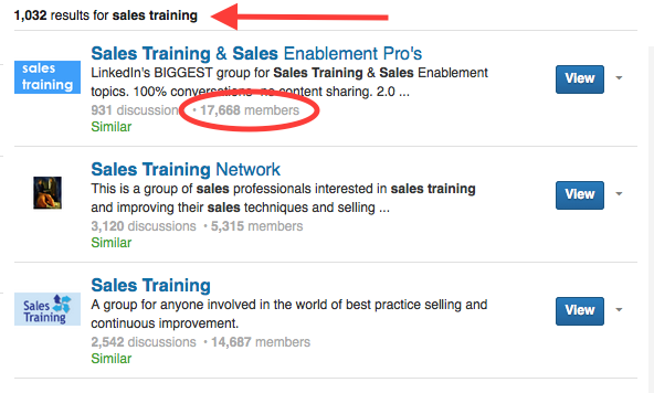 Research sales training online course idea using Linkedin